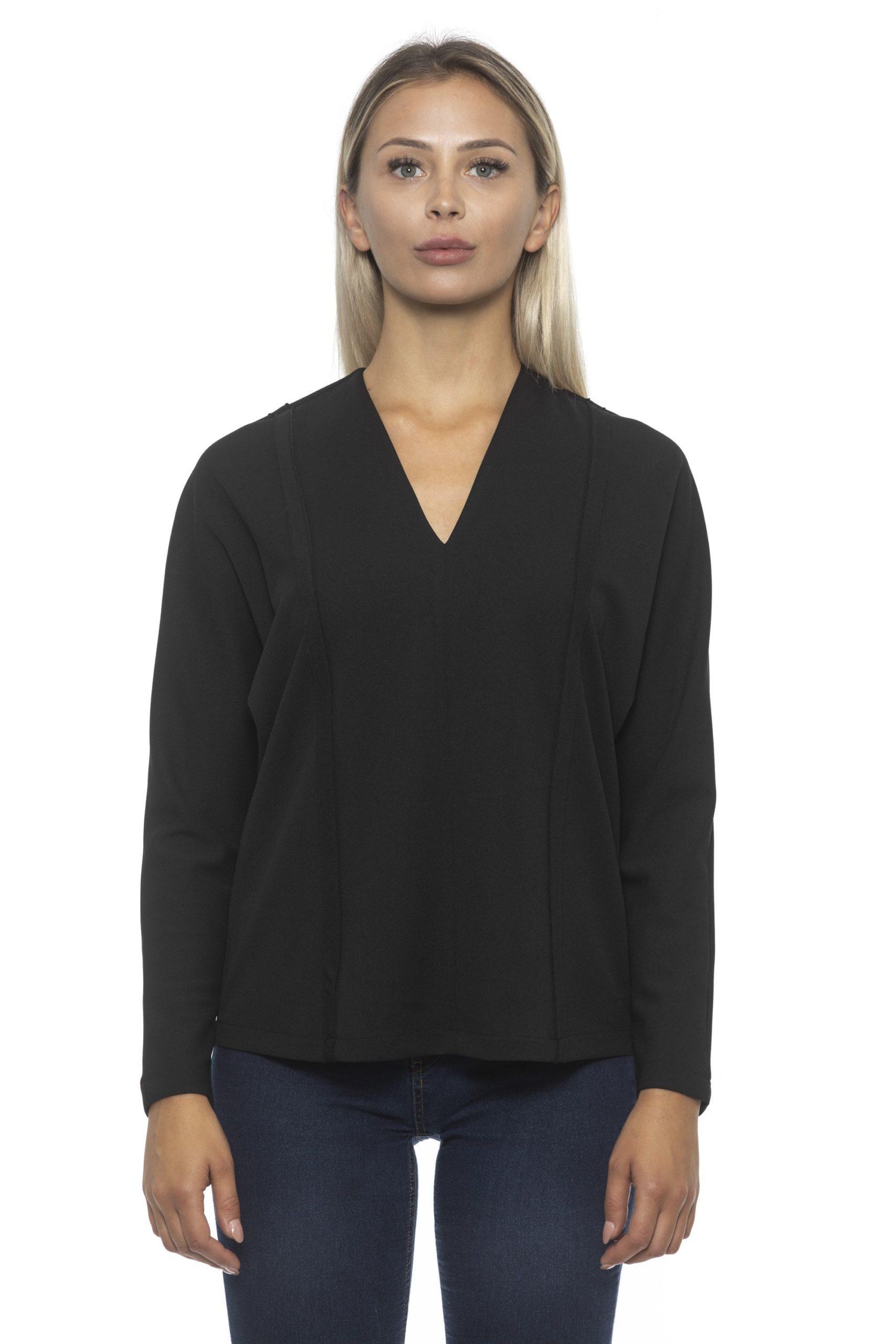 Alpha Studio Women's Nero Sweater Black AL1192289 - IT40 | XS