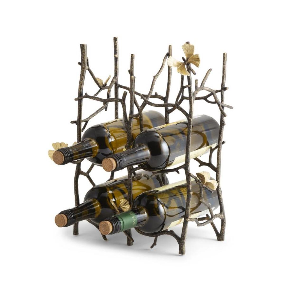 Michael Aram I Butterfly Ginkgo 6 Bottle Wine Rack
