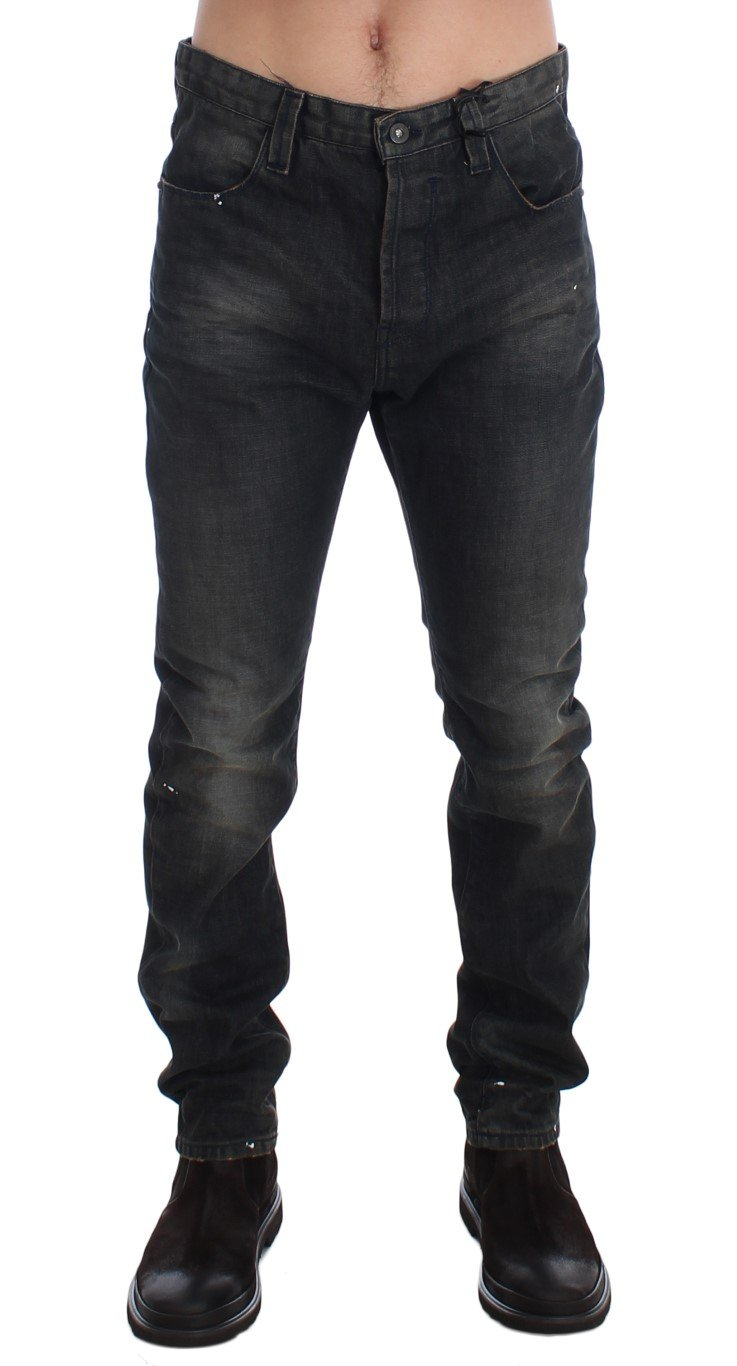 Costume National Men's Wash Slim Fit Cotton Denim Jeans Gray SIG17913 - W34