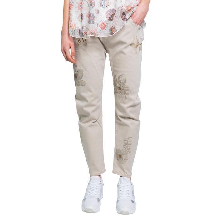 Desigual Women's Jeans Beige 192509 - beige 44