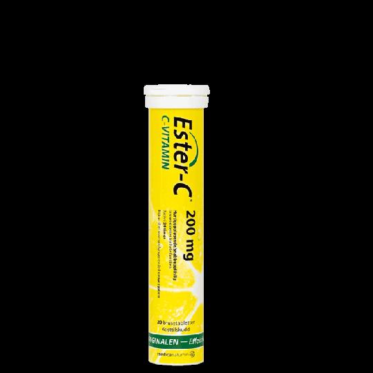 Ester-C 200 mg, Apelsin, 20 Brustabletter