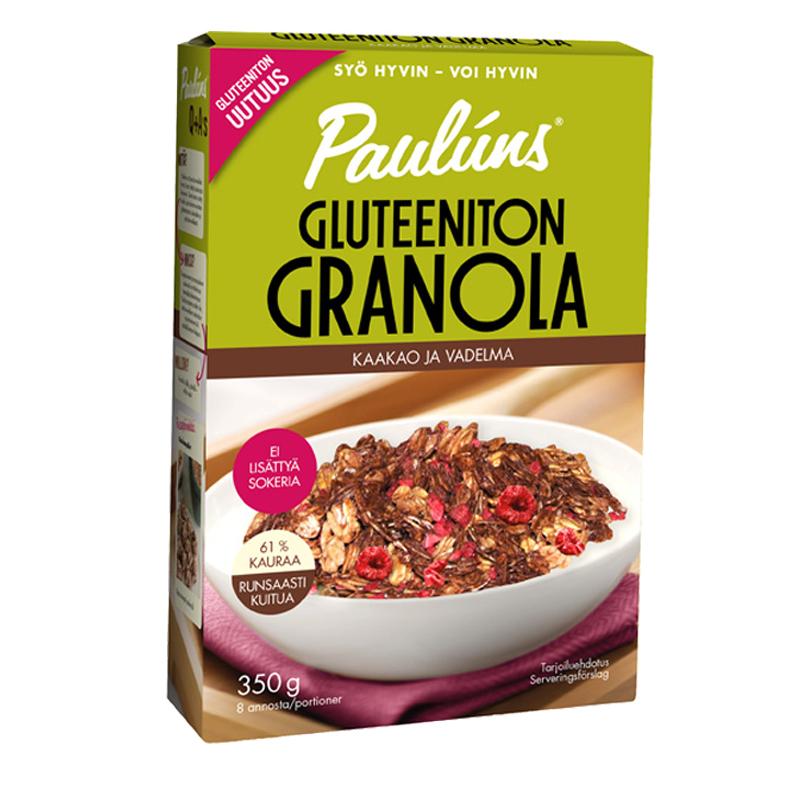 Granola Kaakao & Vadelma - 26% alennus