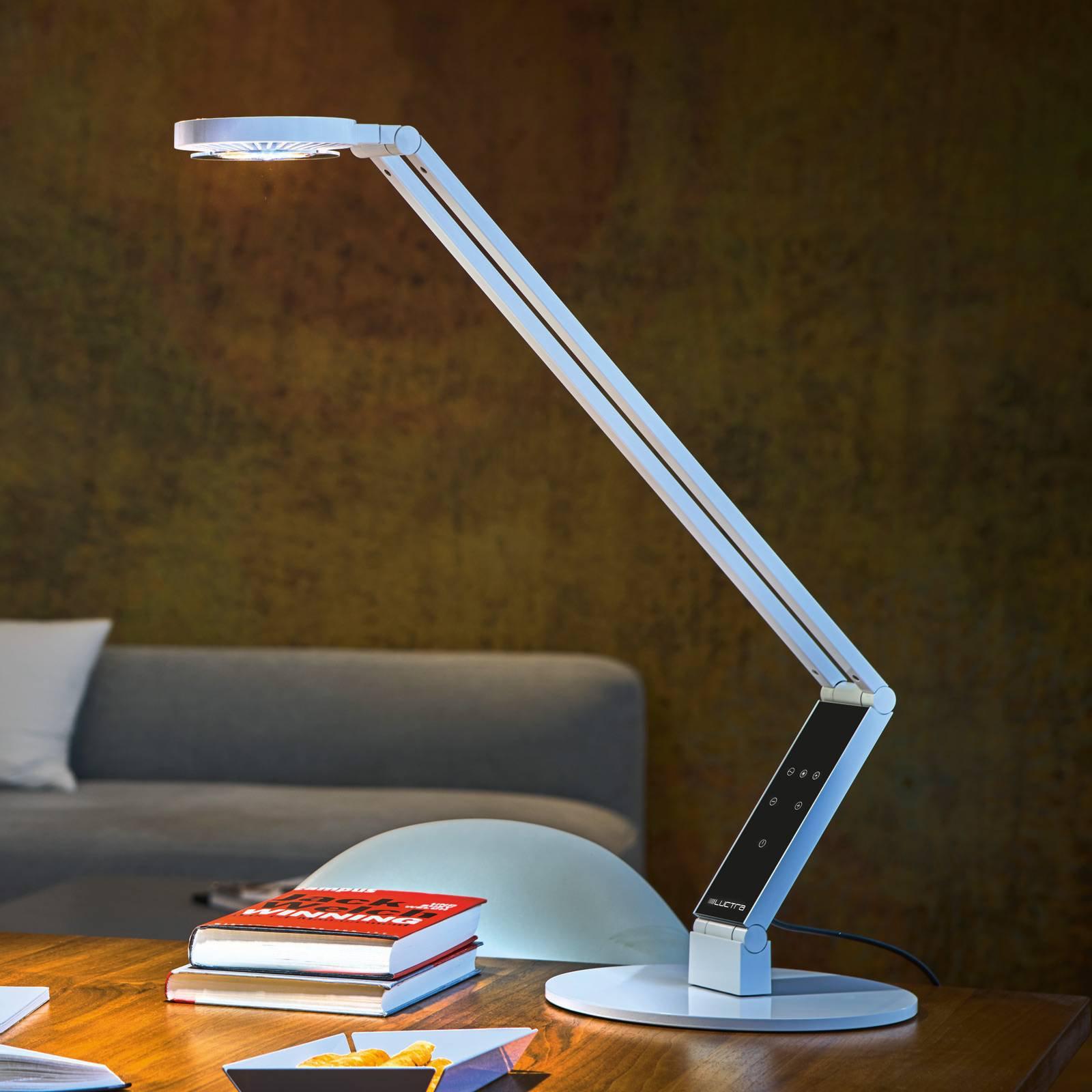 Luctra Tabel Radial LED-bordlampe fot hvit
