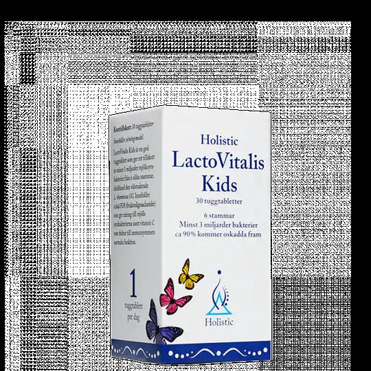 LactoVitalis Kids, 30 tuggtabletter