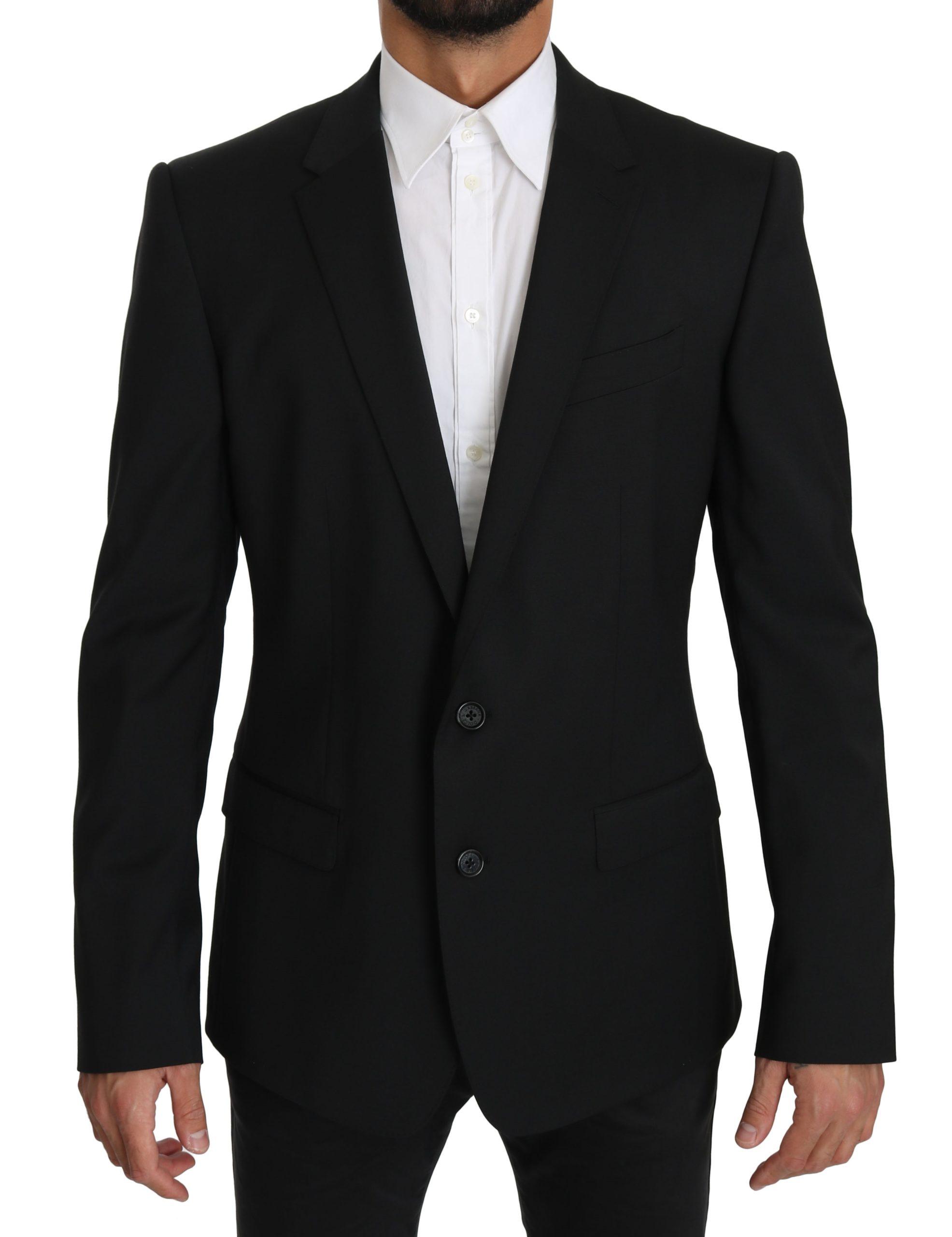 Dolce & Gabbana Men's Single Breasted MARTINI Blazer Black JKT2482 - IT52 | XL