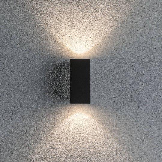 Paulmann Flame utelampe 2 lys 12,8 cm antrasitt