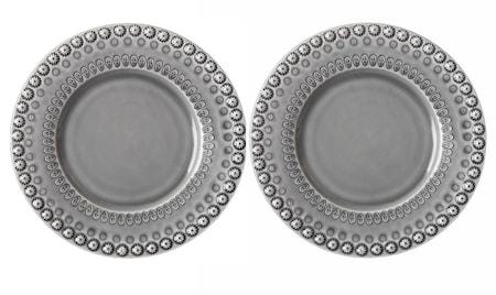 DAISY Desserttallrik Soft Grey 22 cm 2-pack