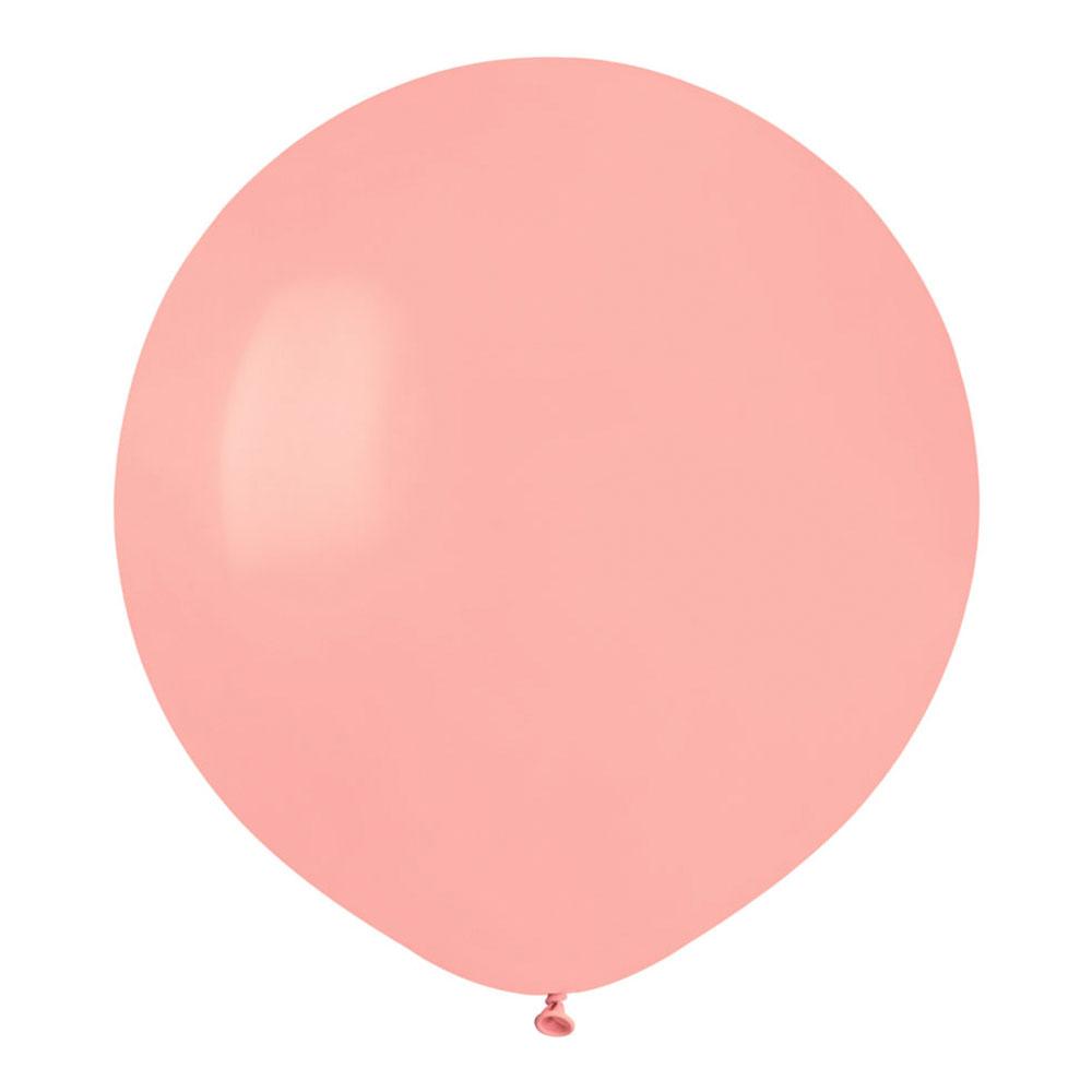 Ballonger Ljusrosa Runda Stora - 10-pack