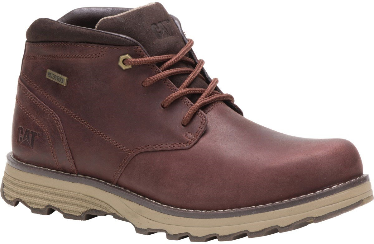 CAT Lifestyle Men's Elude Waterproof Lace Up Boot Various Colours 26178 - Dark Brown 7