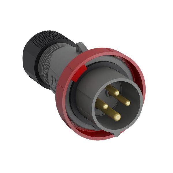 ABB 2CMA101080R1000 Støpsel IP67 Rød, 16 A, 4-polet