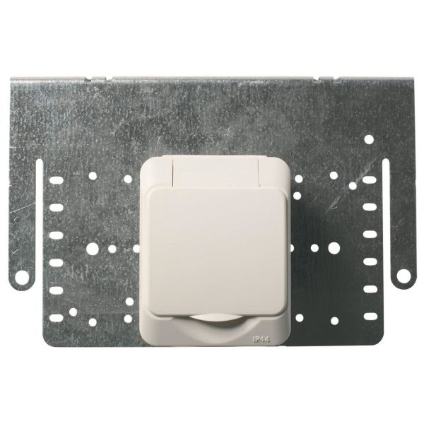 Schneider Electric Aqua Stark PV Seinäpistorasia 1-osainen, asennuslevy