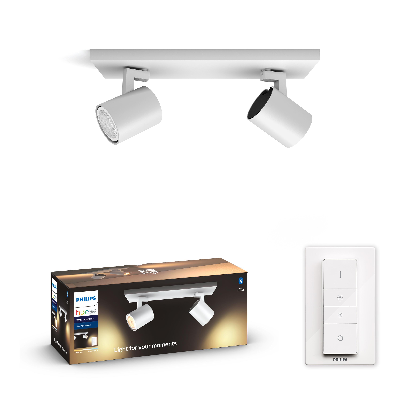 Philips Hue - Runner 2x5.5W - White Ambiance Bluetooth