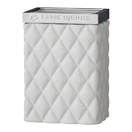 Portia Tannbørsteholder - Hvit/Sølv