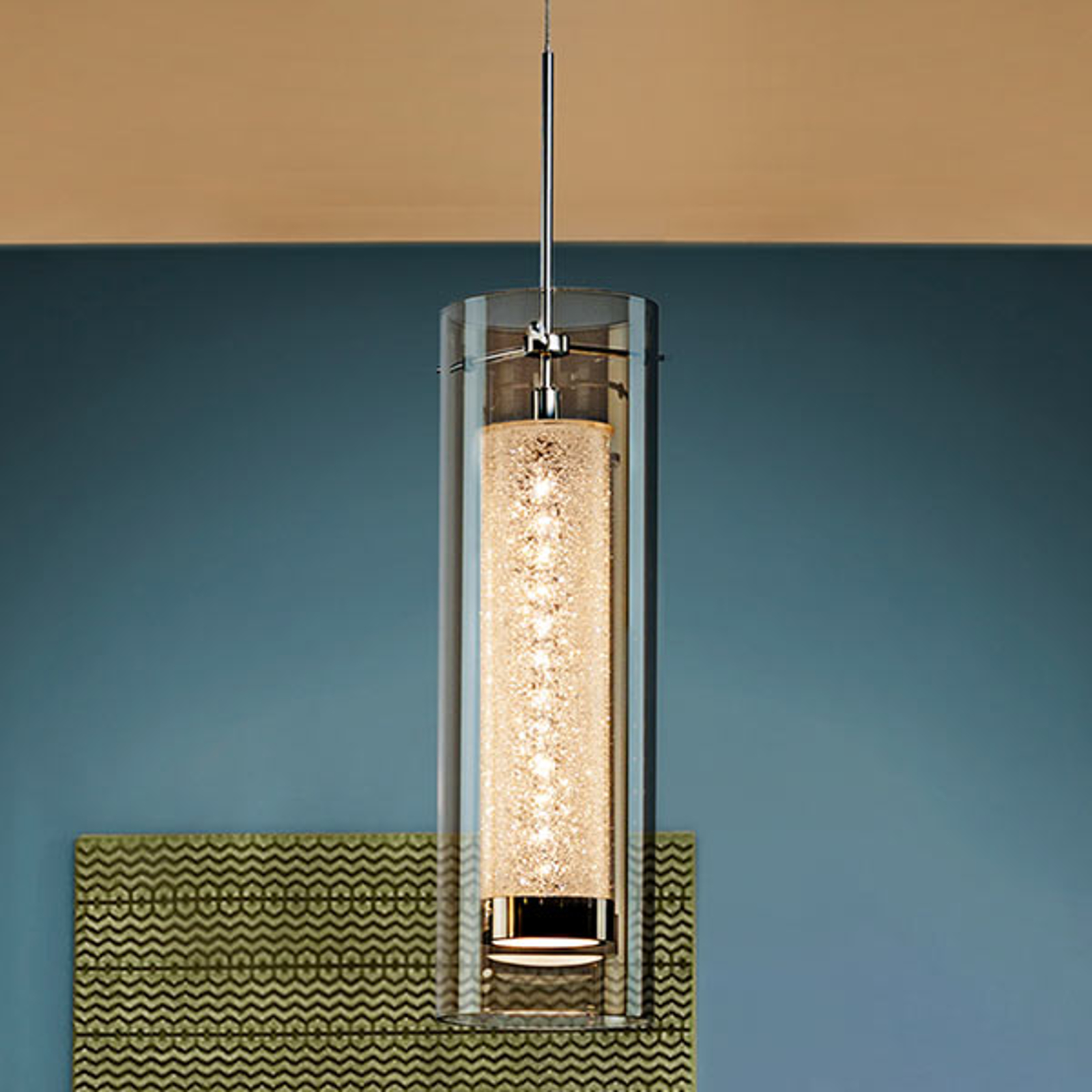 Zila - LED-riippuvalaisin, kaksoisvarjostin