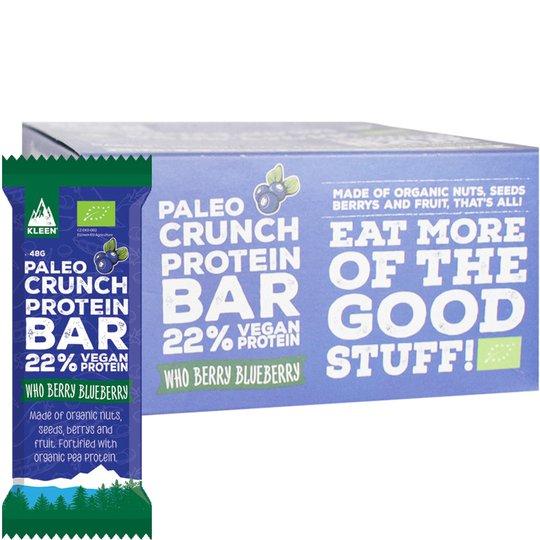"""Laatikollinen Luomu Proteiinipatukoita """"Blueberry"""" 12 x 48g - 40% alennus"""