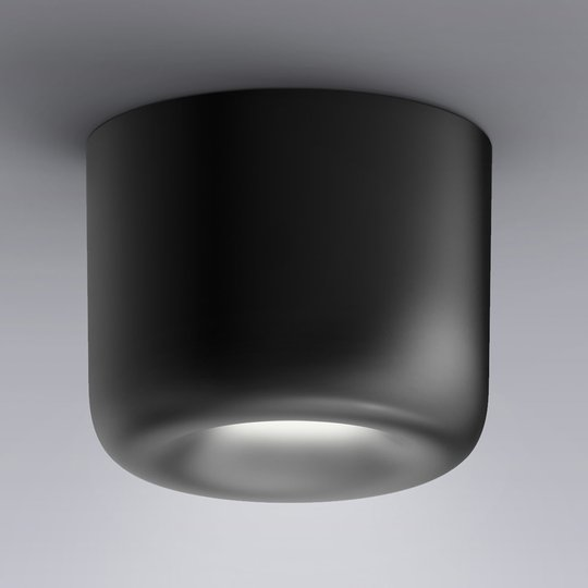 serien.lighting Cavity Ceiling S, musta