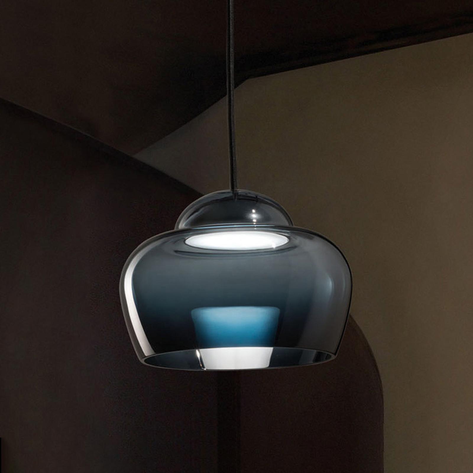 LED-riippuvalaisin Cristallina musta