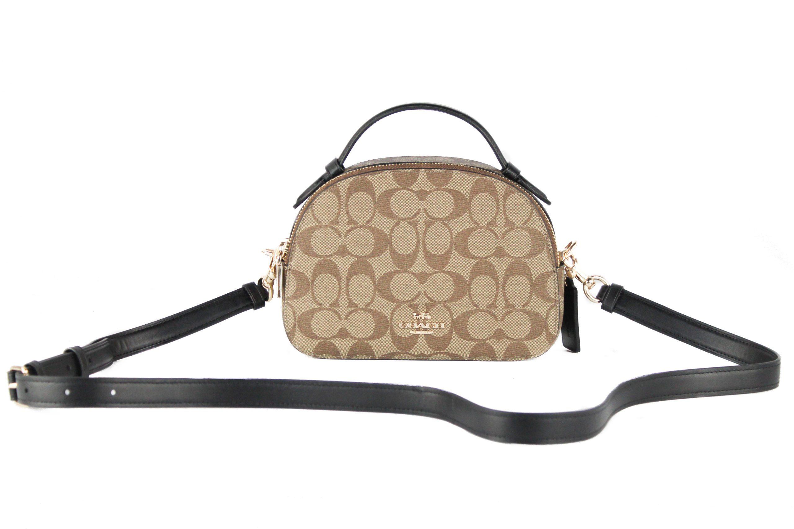 COACH Women's Serena Satchel Bag Khaki 87845