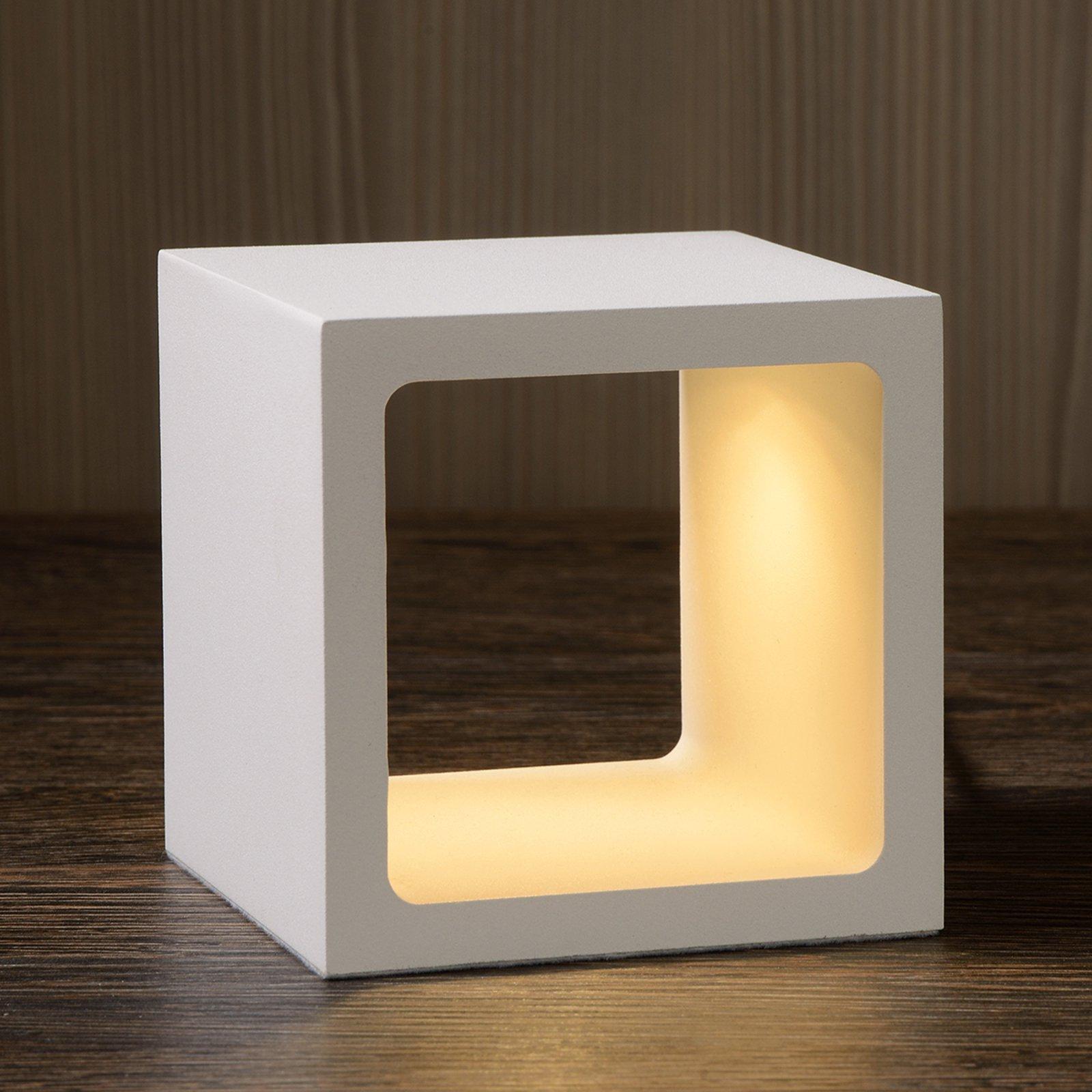Terningformet LED-bordlampe Xio