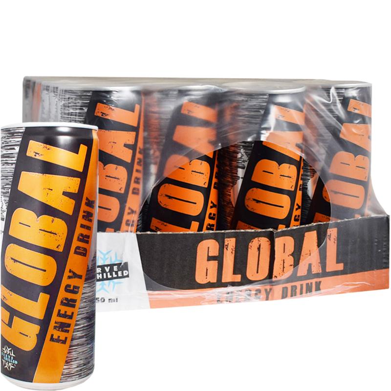 "Hel Platta Energidryck ""Global"" 24 x 250ml - 62% rabatt"