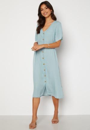 ONLY Nikoline Smock Denim Dress Light Blue Denim L