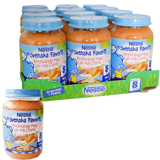 Barnmat Rotfrukter & Lax 8m 12-pack - 34% rabatt
