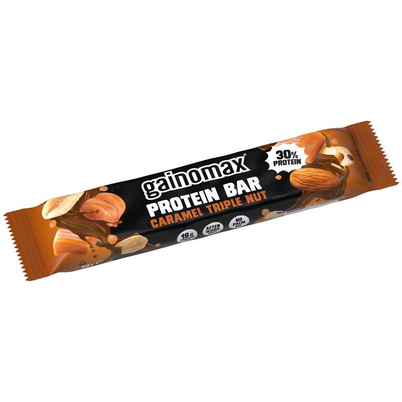 Proteiinipatukka Caramel Triple Nut - 50% alennus