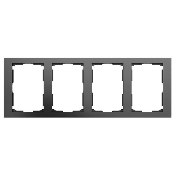 Elko Plus Yhdistelmäkehys 2-osainen, 4 lokero Musta