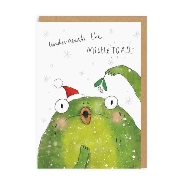 Underneath The 'Mistletoad' Christmas Card