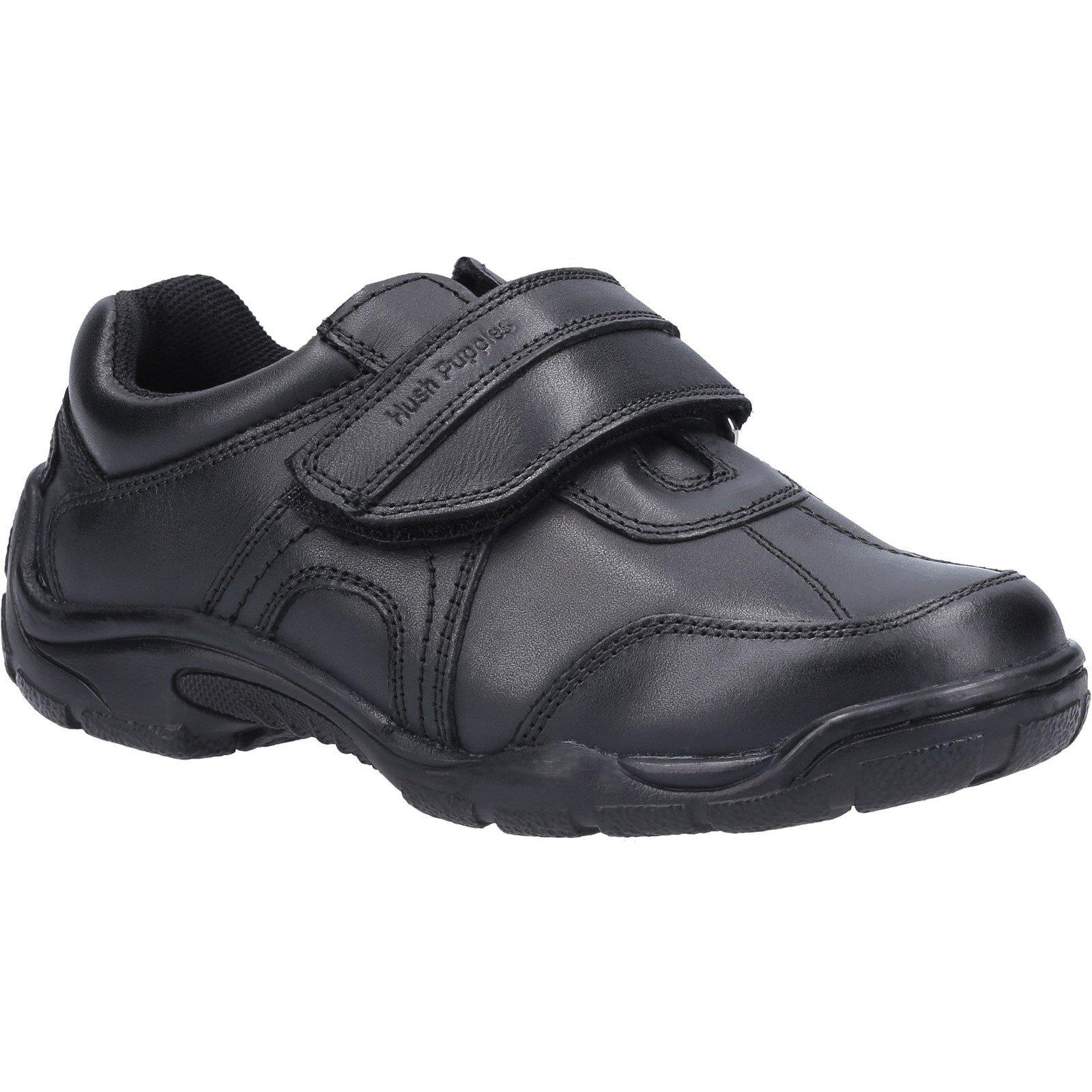 Hush Puppies Kid's Arlo Junior School Shoe Black 30853 - Black 12