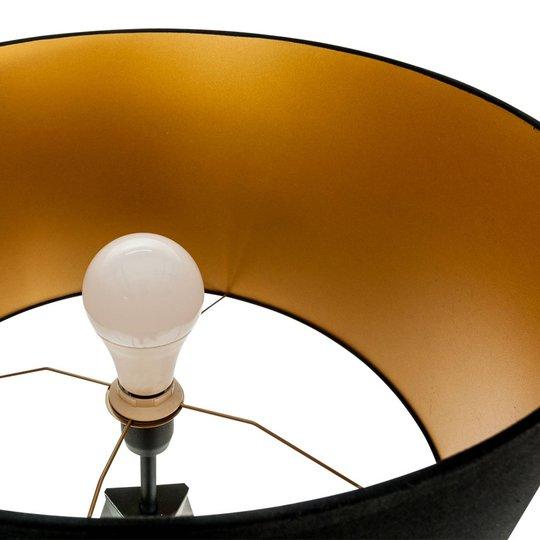 Gulvlampe Tago, tripod, skjerm svart/gull