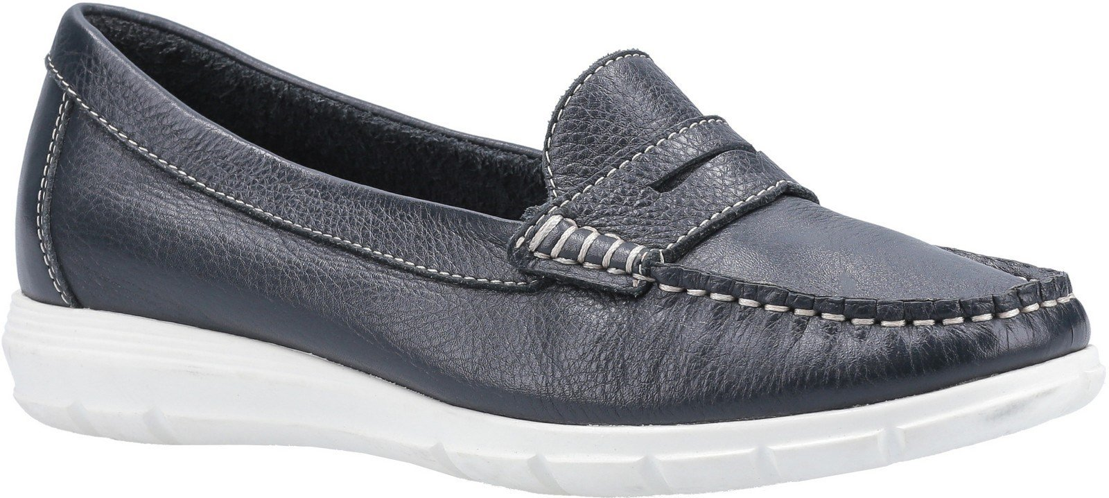 Hush Puppies Women's Paige Slip On Loafer Various Colours 30242 - Navy 4