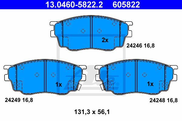 Jarrupalasarja, levyjarru ATE 13.0460-5822.2