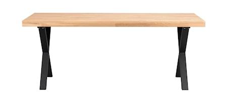Brooklyn Matbord Ek/X-ben Svart Metall 170x95 cm