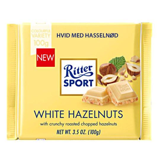 Vit Choklad Hasselnötter 100g - 23% rabatt