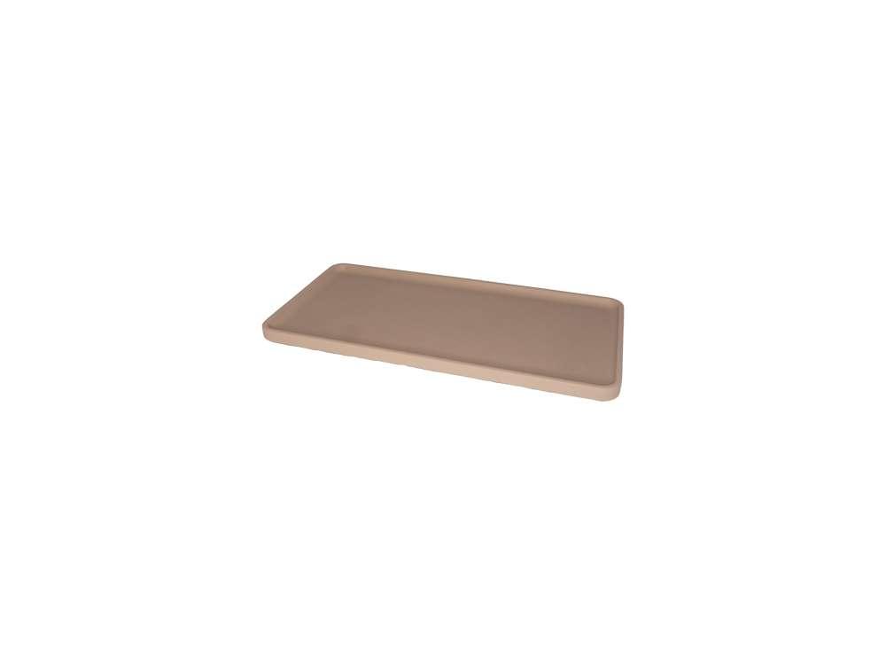 LIKEconcrete - Karin Tray Small 30 x 14 x 2 cm - Mocca (93763)