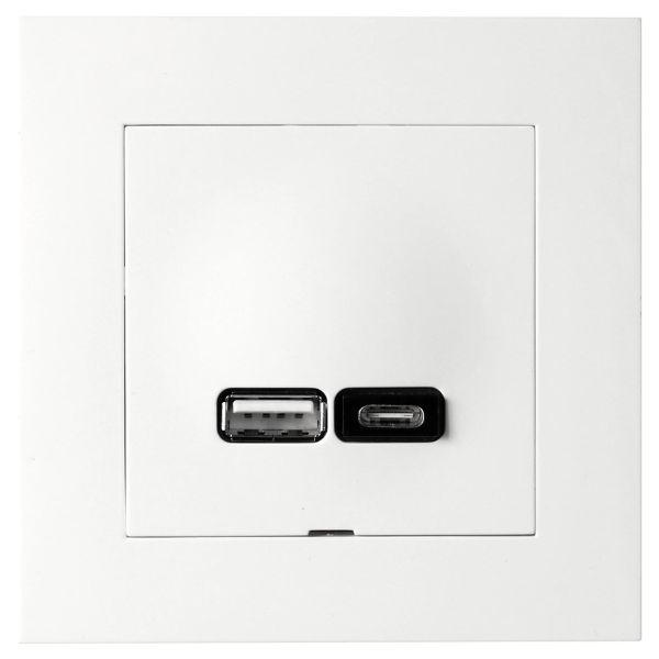 Elko Plus A+C Latausliitäntä USB A + C, 2,4 A