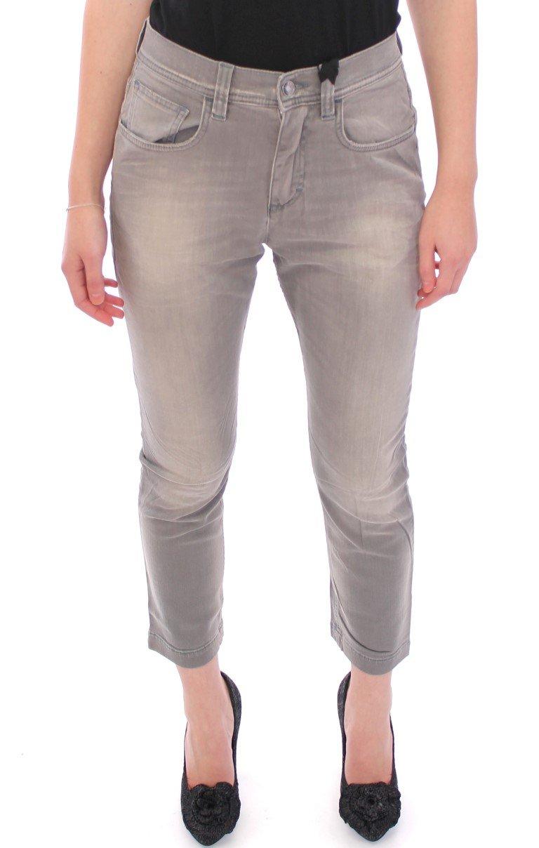 Dolce & Gabbana Women's BOYISH Boyfriend Stretch Jeans Gray GPD10073 - IT44