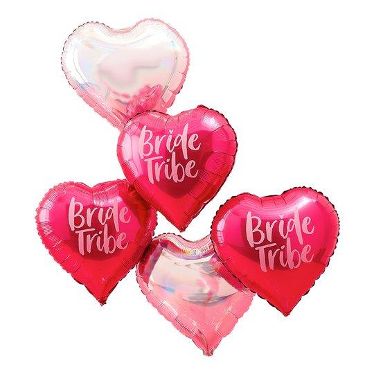 Folieballonger Bride Tribe - 5-pack