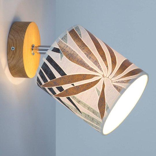Veggspot Jaro med motivtrykk, 1 lyskilde Ø 13 cm