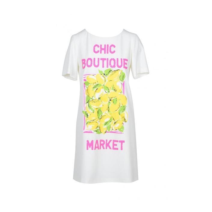 Boutique Moschino Women's Dress White 171706 - white 40