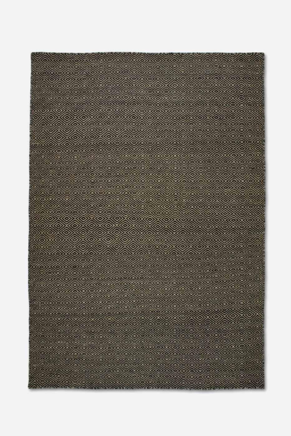 Matta Goose Eye 250x350cm Natur svart