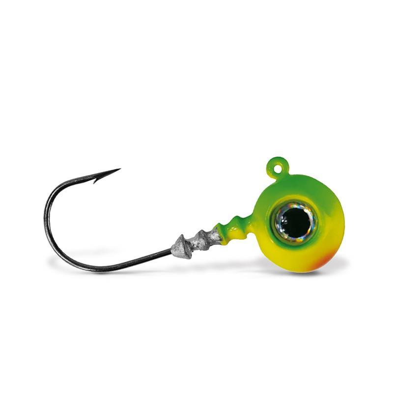 VMC Big Eye Jigghode Lime 10g Rundt Jigghode med øye og sterk krok