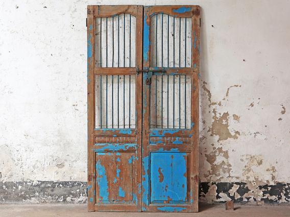 Reclaimed Rustic Double Doors Blue