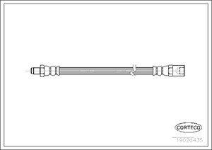 Bromsslang, På hjulsidan, Fram eller bak