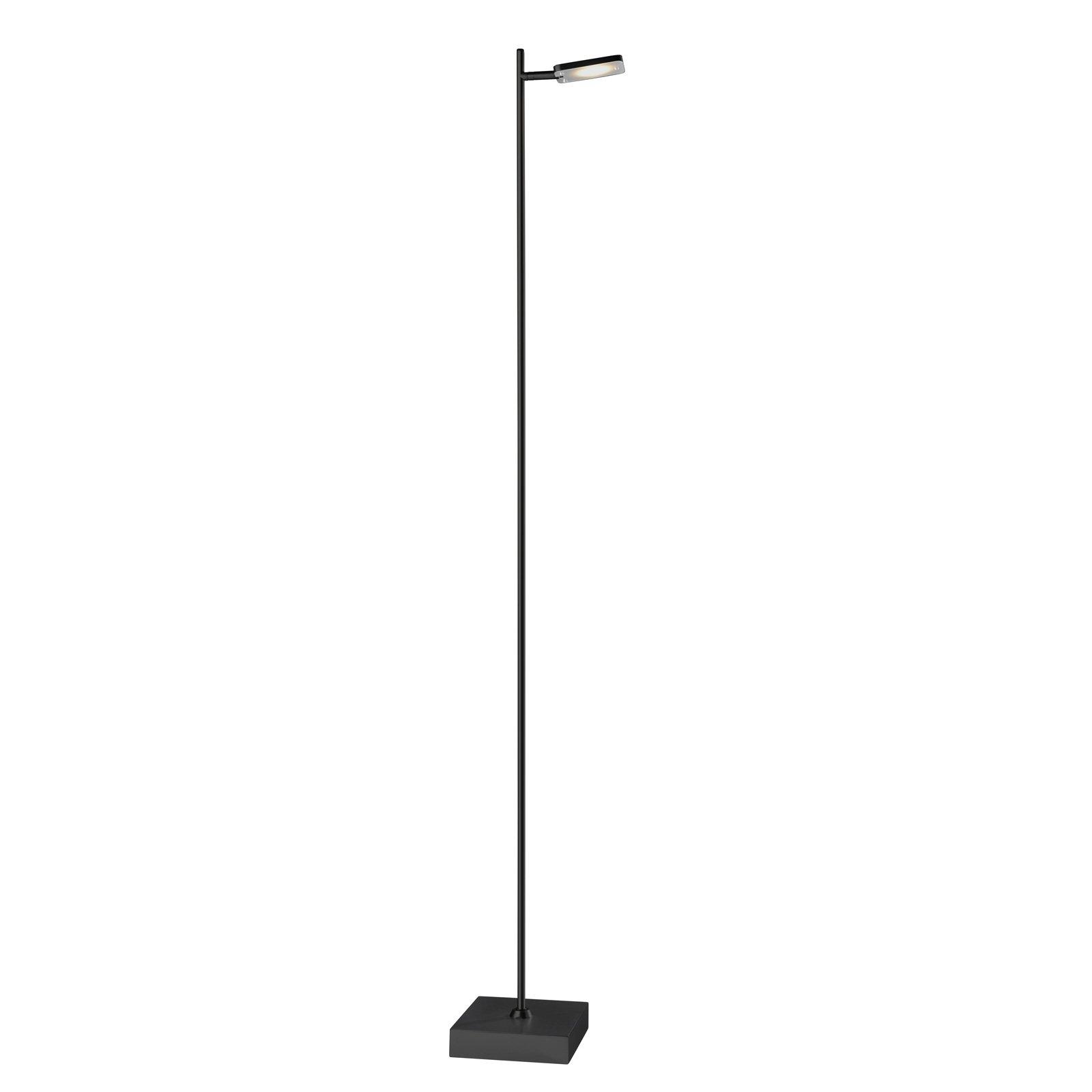 LED-gulvlampe Quad, dimmer, 1 lyskilde, svart