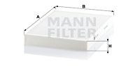 Raitisilmasuodatin MANN-FILTER CU 3037