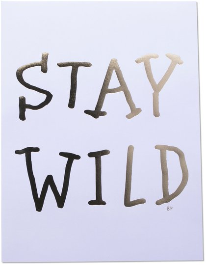 Lilou Lilou Poster Stay Wild 30x40, Lavendel