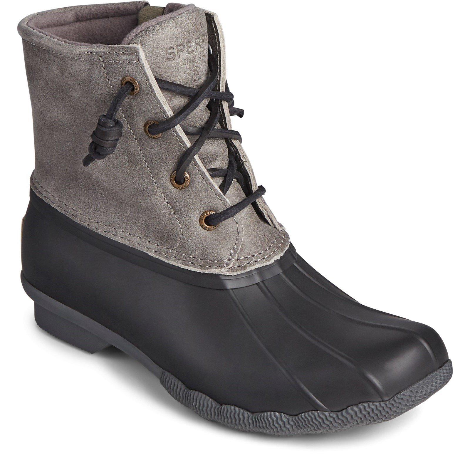 Sperry Women's Saltwater Core Mid Boot Multicolor 32407 - Black/Grey 6
