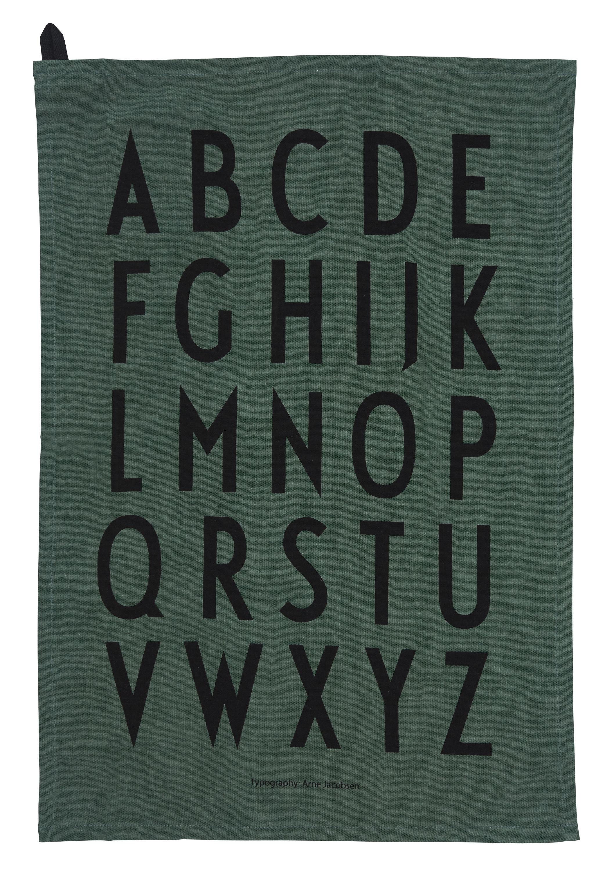 Design Letters - Classic Tea Towel - Dark Green (10503000DARKGREEN)
